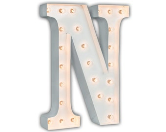 "Letter Light N - WHITE - 24"" Vintage Marquee Lights-The Original!"
