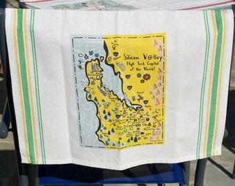 Silicon Valley Map Kitchen/Tea Towel