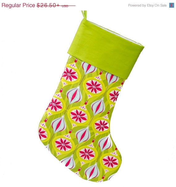 Clearance Sale Retro Christmas Stocking By Forsheedesigns