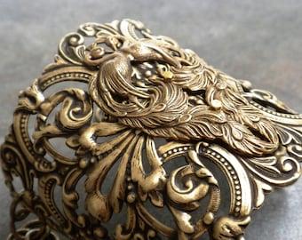 Statement Cuff Bracelet Peacock Jewelry
