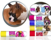 BOXER Dog Try It All Big Sniff NOSE BUTTER®, Paw Butter, Elbow Butter, Boo Boo Butter Choice of Fawn, Brindle, White or Show Boxer Labels