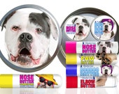 American Bulldog Big Sniff Combo All Your Dog Needs for Dry Noses, Paws, Elbows & Discomforts Organic ORIGINAL NOSE BUTTER®, Paw Butter +