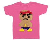 Rad Rapper - Red Bandana - Toddler T-Shirt [RASPBERRY]