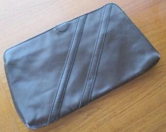 Maroon Clutch with Diagonal Seam Details, Vintage, Medium