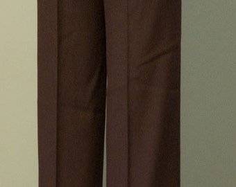 Vintage NOS 1970s Levi's Brown Polyester high waisted Dress Pants, size large