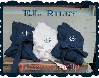 Monogrammed Waffle Robes, Personalized Bridesmaids Gift, Bridesmaid Robe, Set of 4