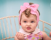 Perfect Baby Pink Cotton - Dolly Rosie Scarf - Better than a Head Wrap - Retro Vintage Infant, Baby, Toddler, Girl, Teen, Adult