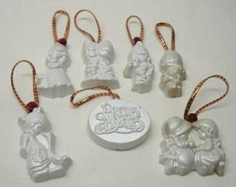 1970s Precious Moments Tree Ornaments/Christmas Decorations/Vintage Ornaments