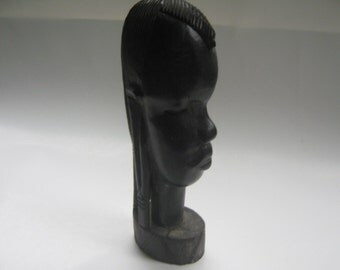 Vintage Sculpture Tribal Head African Statue Kenya