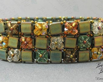 Quilt Cuff Beaded Bracelet Tutorial - Digital Download