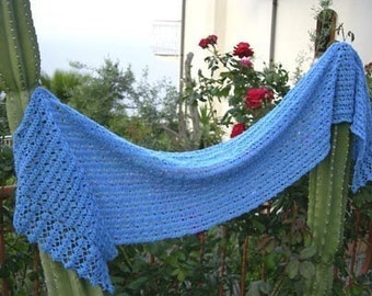 Sweet Memories Lace Shawl  crochet pattern pdf