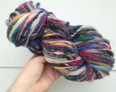 RESERVED RESERVED Art Yarn 6.5 oz 75 yd BIG skein handspun, homespun, multicolor, super soft, extra bulky, rainbow of color
