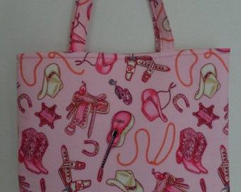 Cowgirl Tote Bag/Book Bag/Preschool Tote
