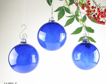 Blown Glass Ornament Suncatcher Christmas Tree Holiday Ornament Cobalt Blue Ornament