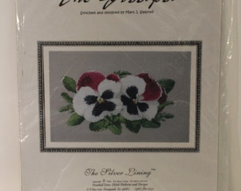 The Gossips Pansies Counted Cross Stitch Pattern