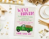 SALE. Printable Truck Moving Announcement. We've Moved Card. DIY Moving Card. Moving Announcement. Truck with Boxes Moving Card. Retro Truck