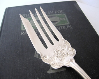 Antique Meat Fork, Moselle 1906 by American Silver Co. Silverplate