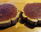 Food Safe Cake or Decorative Wood Stand Made From Cedar Tree Trunk Slices