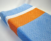 Changing Pad Cover Color Block Blue Periwinkle Orange