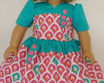 "American Girl doll clothes/Retro Dress/READYTOSHIP/Made to fit 18"" American Girl Doll"