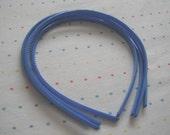 Azure Blue Skinny Plastic Headbands (4)