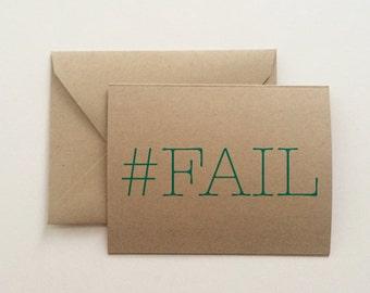 Sorry #FAIL Card