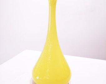 Canary Yellow Bud Vase