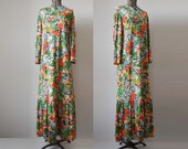 Flower Child Maxi Dress / Convertible Midi/Maxi Dress / 70's Maxi Dress