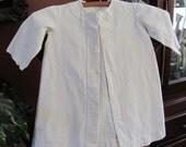 Antique White Ivory Soft Cotton Baby Toddler Coat Jacket Robe