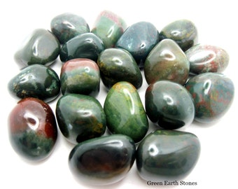Bloodstone Tumbled Stone, Premium, Grounding, Protection, Crystal Grids, Reiki, Wicca, Gemstones