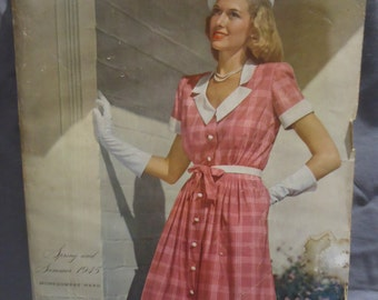 Vintage 1945 Montgomery Ward Catalog  Spring Summer  845 pages