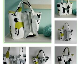PDF Sewing Pattern Reversible Tied Tote Bag
