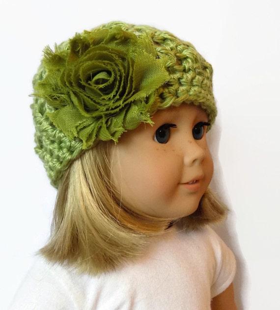 18 Inch Doll Hat AG Doll Beanie Doll Clothes Green