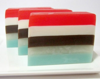 Winter Soap  -  Christmas Soap - Glycerin Soap, Cranberries, Cinnamon, Orange, Hostess Gift, Stocking Stuffer
