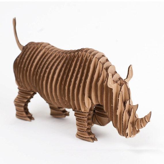 Rambling Robbie- Large Full Body Rhino - Brown