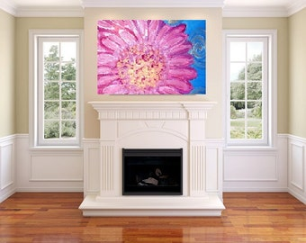 pink flower (16 x 20 canvas painting)