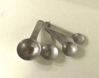 1960s Aluminum Measuring Spoons