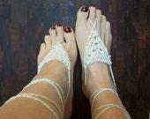 Barefoot sandals  Brides foot jewelry Destination wedding Beach wedding Beach-y bridesmaids Color choices