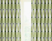 """Pair of designer drapes, two 50"""" wide curtain panels,Feathers canal"""