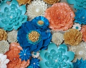 Weddings Large Paper Flowers Great for Photo Backdrop Colors and styles of your choice