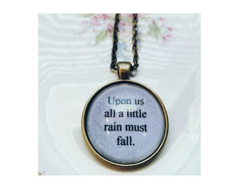 Led Zeppelin lyric quote necklace- The Rain Song lyric quote necklace