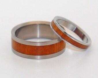 wedding rings, titanium rings, wood rings, mens rings, Titanium Wedding Bands, Eco-Friendly Wedding Rings, Wedding Rings - AURI BLISS