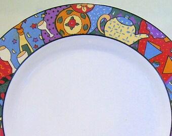 SUE ZIPKIN Mardi Gras Salad Plate 1983