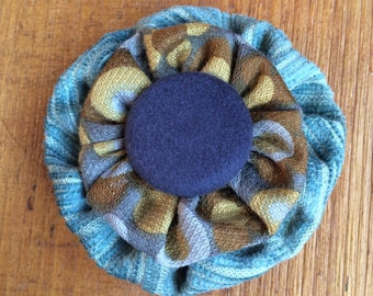 Vintage Retro Swedish Fabric Hair Flower