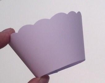 Pastel Lavender Cupcake Wrappers  Pale Purple SALE