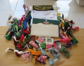 cross stitch fabric and floss