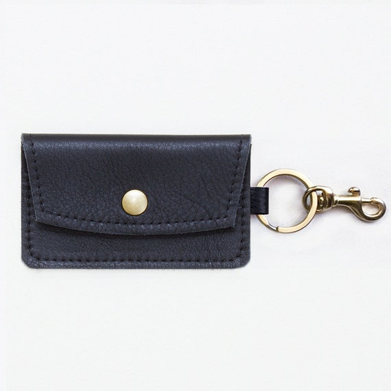 Leather Keychain Credit Card Wallet ID Wallet By JillyDesigns