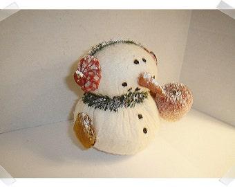 Snowman Decoration/Cotton Batting/ Handmade/Holiday Decoration**