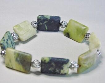 Beaded Green Stone Bracelet
