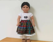 """Bright, Beautiful Southwestern Outfit for Josefina. or any 18"""" doll with similar body"""